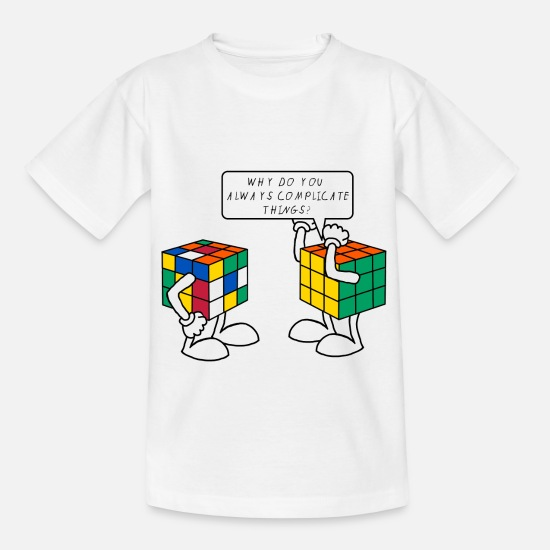 Humour T-shirts - Rubik's Cube Complicate Things Blague Humour - T-shirt Enfant blanc