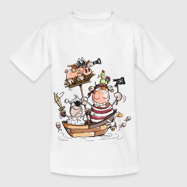 Funny farm pirates - pirate - buccaneers - Kids' T-Shirt