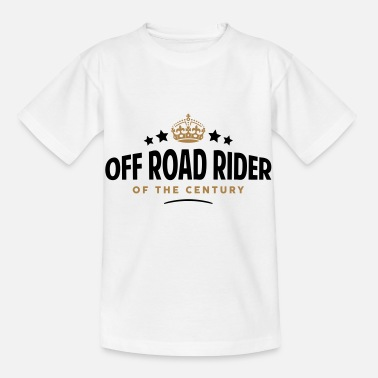 Century off road rider of the century funny crow - Kids' T-Shirt