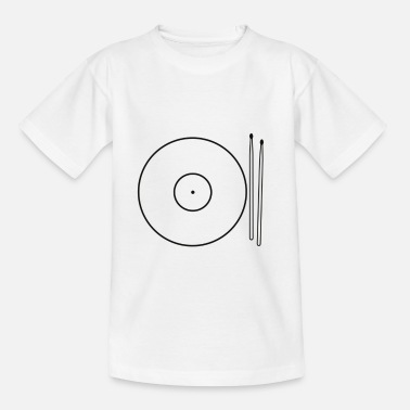 Drums Cymbals Food - Kids' T-Shirt