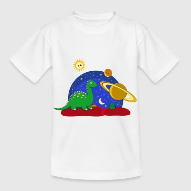 Dinosaur Space Space Saturnus måne Planet - T-shirt barn