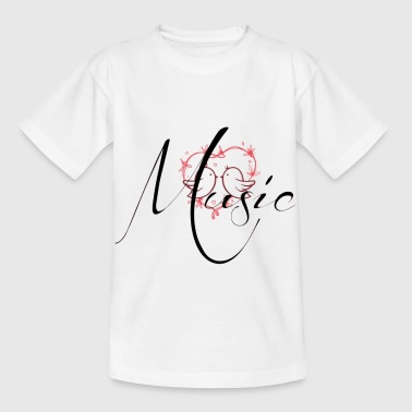 Musical instoment - Music Love - Børne-T-shirt