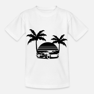 Florida Miami Palmen Sonne Florida USA Oldtimer - Kids' T-Shirt