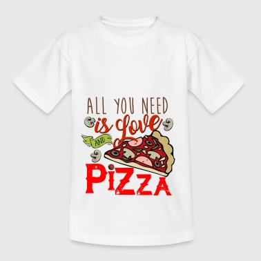 All you need is love and pizza - Kinder T-Shirt