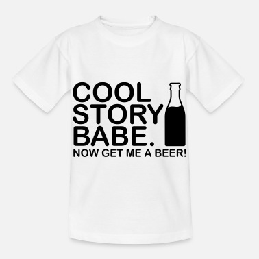 Babe cool_story_bebe_get_me_a_beer_f1_ - Kids' T-Shirt