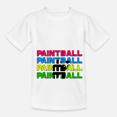 Paintball Paintball Paintball Paintball Paintball - T-shirt til børn