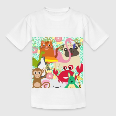 Colorful djurliv! - T-shirt barn
