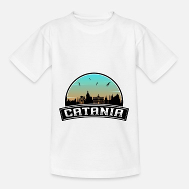 Catania City Catania Italy Skyline Italian Souvenir - Kids' T-Shirt