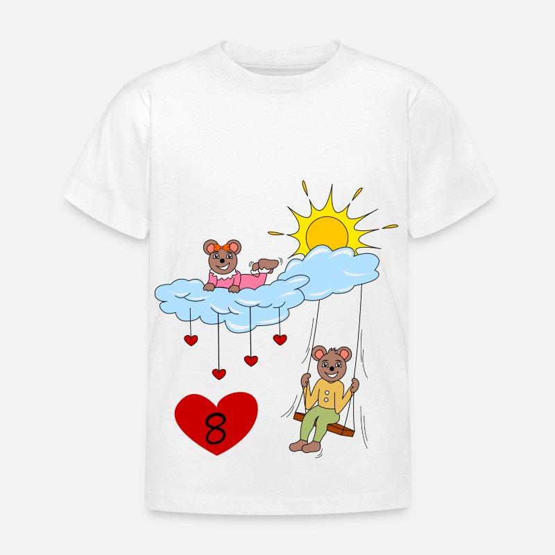 Eighth Birthday Number 8 Bears Kids T Shirt