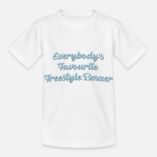 Freestyle T-Shirts - Everybodys favourite freestyle bmxer fun - Kids' T-Shirt white