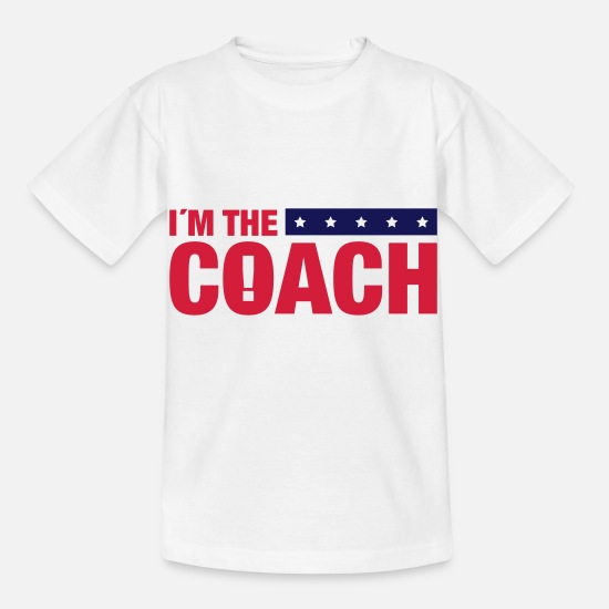 Basketball T-Shirts - im_the_coach_ya2 - Kids' T-Shirt white