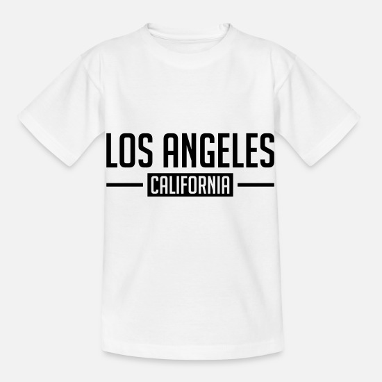 Francisco T-Shirts - los_angeles_cali_hu1 - Kinder T-Shirt Weiß