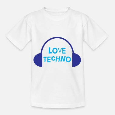Hippies Techno Love avec conception de casque - T-shirt Enfant