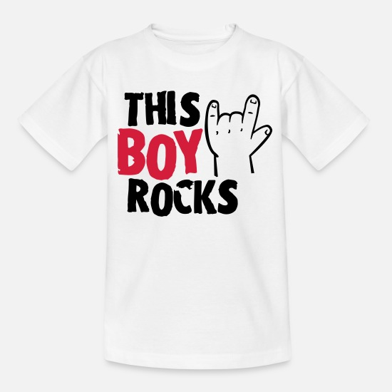 Baby Shower T-Shirts - This Boy rocks - Kids' T-Shirt white