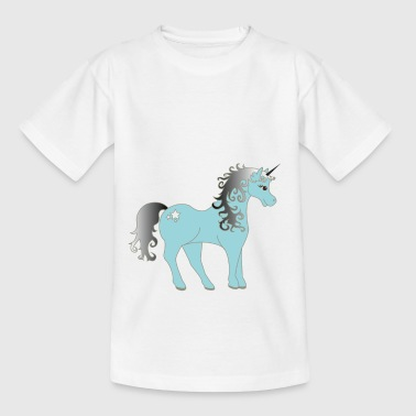 Mythical blue unicorn - Kids' T-Shirt