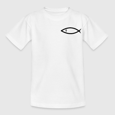 Christianity fish with cross (Itchys) - Kids' T-Shirt