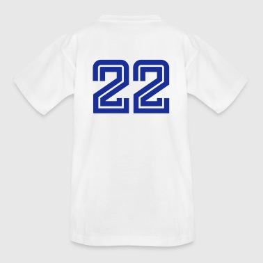 Number 22 College Numbers, Nummern, Sports Numbers, 22 - Kids' T-Shirt