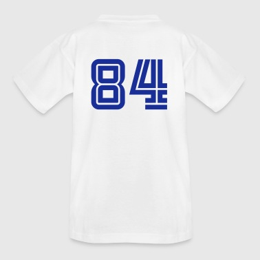 Number 84 College Numbers, Nummern, Sports Numbers, 84 - Kids' T-Shirt