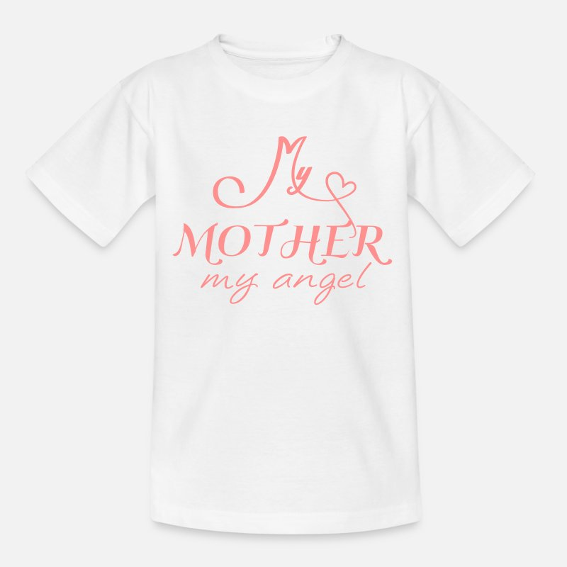 Love T-Shirts - my mother is my angel - Kids' T-Shirt white