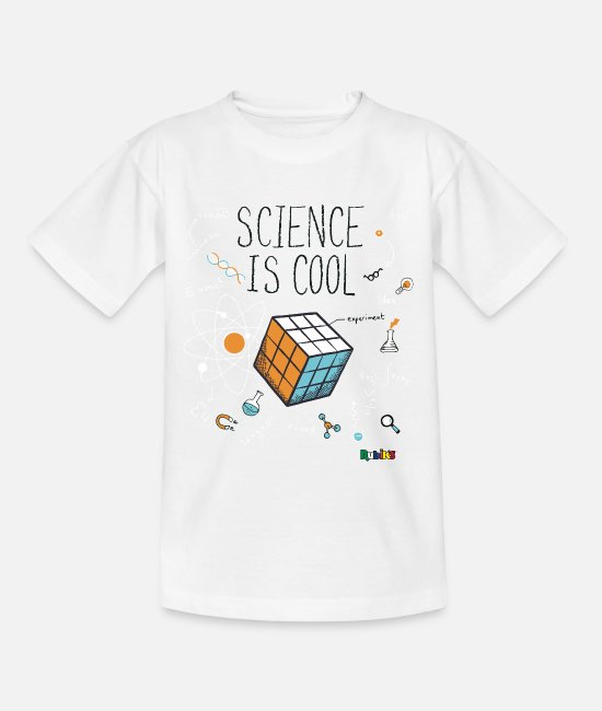 Speedsolving T-shirts - Rubik's Cube Science Is Cool - Kinderen T-shirt wit