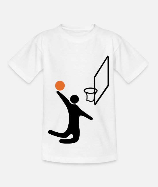 Slamdunk T-Shirts - Basketball Dunk Korb Korbleger Basketballspieler - Kinder T-Shirt Weiß