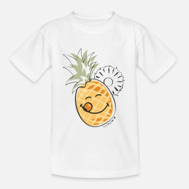 Ananas SmileyWorld 'Juicy Pineapple' Enfants Tee Shirt - T-shirt Enfant