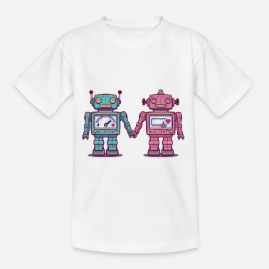Till Barn Loving Robotar - T-shirt barn