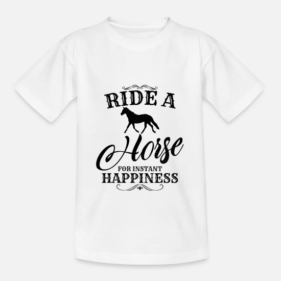 Birthday T-Shirts - Ride a horse - Kids' T-Shirt white