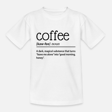 Dark Magic Coffee A Dark Magical Substance - Kids' T-Shirt