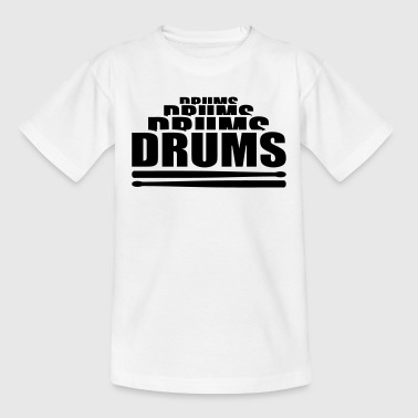 Drums Drummer Drumsticks - Kids' T-Shirt
