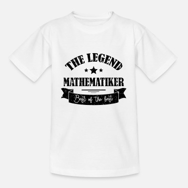 Uni The Legend Mathematiker Geschenk - Kinder T-Shirt