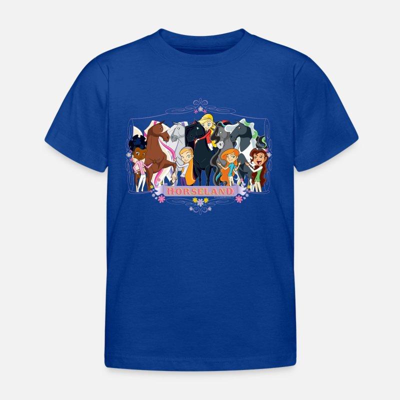Horseland Chevaux T-Shirt /à Fronces Fille