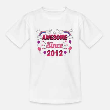 2012 Anniversaire Awesome 2012 Girl Pink Purple - T-shirt Enfant