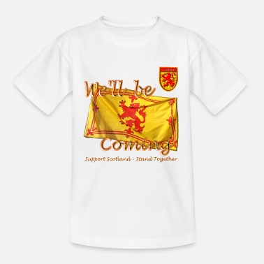 845ce0a88351 Scottish Lion Rampant Football Teenage T-Shirt | Spreadshirt