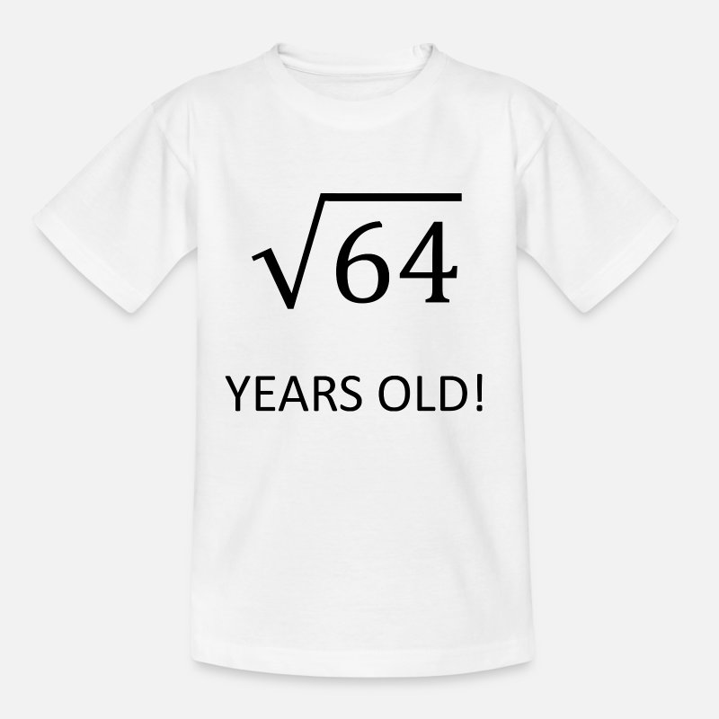 Math 8 Years Old Birthday Kids Gift Idea T Shirt