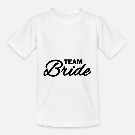 Kvinnor T-shirts - Team brud - team brud - T-shirt barn vit