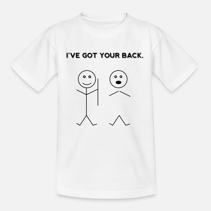 Boy T-Shirts - I've Got Your Back. (Funny Stickfigure Drawing) - Kids' T-Shirt white