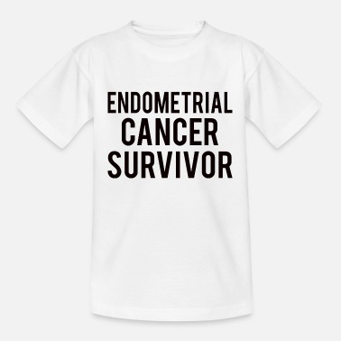 Endometrial Cancer Survivor Endometrial Cancer: Endometrial Cancer Survivor - Kids' T-Shirt
