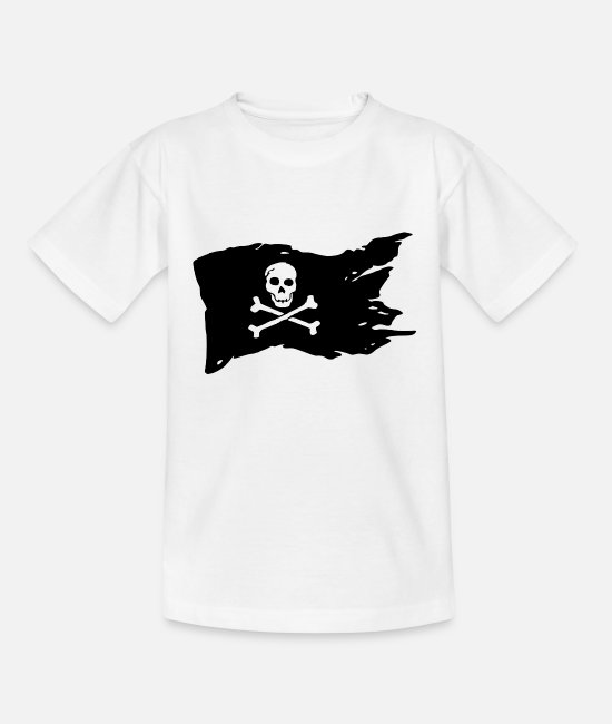 Pirate Flag T-Shirts - Pirate Flag Skull Pirate - Kids' T-Shirt white