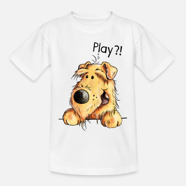 Cute Pets Airedale Terrier - Dog - Cartoon - Gift Dogs - Kids' T-Shirt