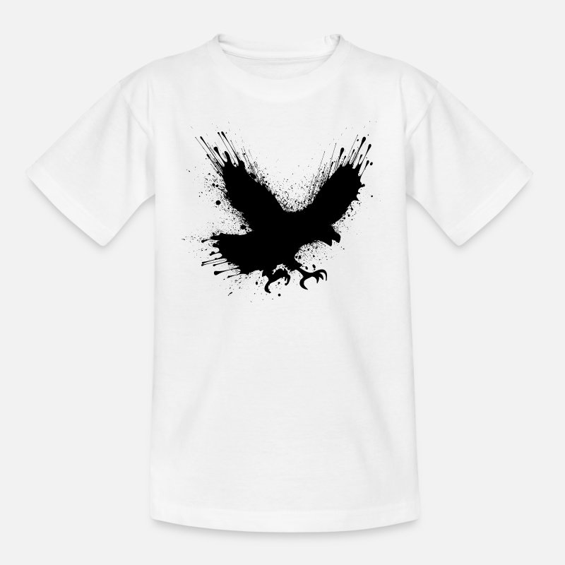 Street T-shirts - Abstract splashes of color - Street art bird - T-shirt Enfant blanc
