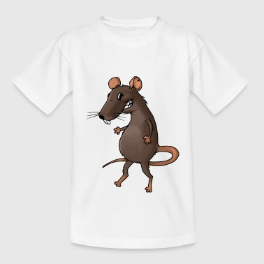Fiese rat rodent vermin rodent mouse - Kids' T-Shirt
