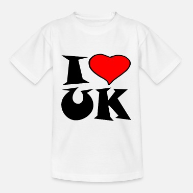 Uk Uk - Ich liebe UK - i love UK - Kinder T-Shirt