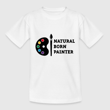 Natural Born Painter (PNG) - Kids' T-Shirt