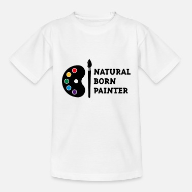 Painters Natural Born Painter (PNG) - Kids' T-Shirt