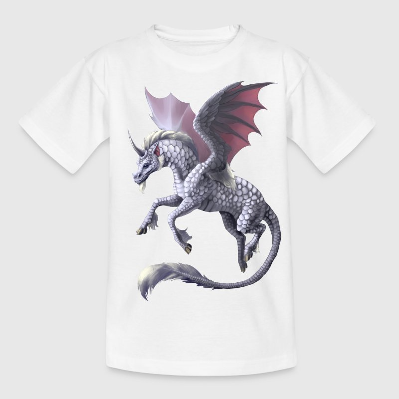 unicorn dragon - Kinderen T-shirt