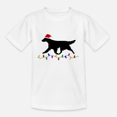 Flatcoated Flatcoated Retriever Christmas - Kinderen T-shirt