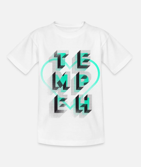 Typo Collection T-Shirts - Tempeh - Kids' T-Shirt white