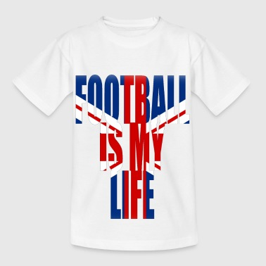 Football Is Life football is my life angleterre - Kids' T-Shirt
