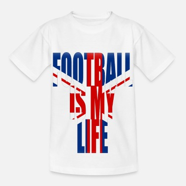 Football Is My Life football is my life angleterre - Kids' T-Shirt